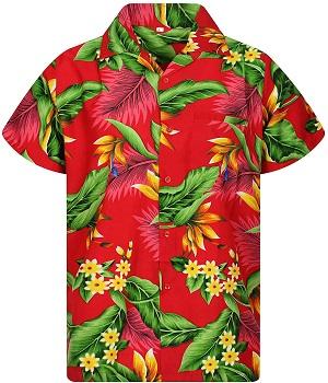 Camisa Hawaiana roja