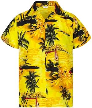 camisa hawaiana amarilla