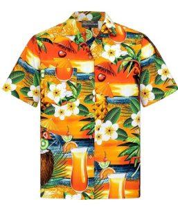 camisa hawaiana patron bebidas y cocteles