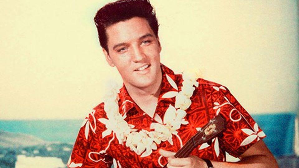 Elvis Presley Película camisa hawaiana roja