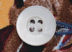 Botón de concha de mariposa blanca