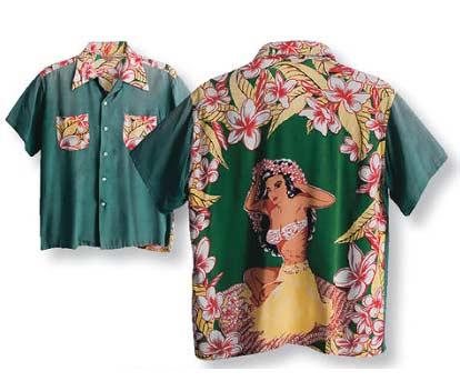 camisa hawaiana estampado espalda