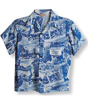 camisa hawaiana imagen impresa