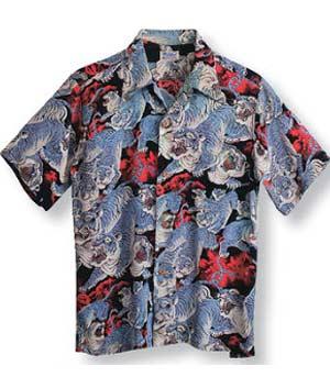 camisa hawaiana patrón japones